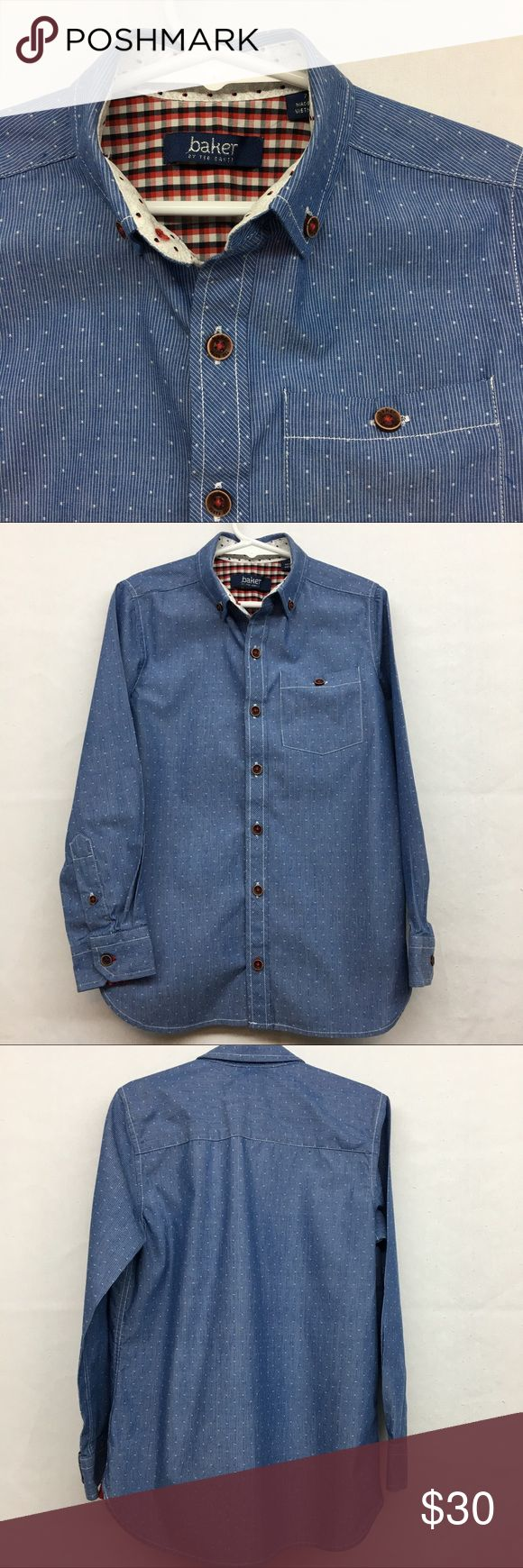Boys Ted Baker Button Down Top Boys Ted Baker Button Down top.  Size 7.  Excellent condition with no flaws. Baker by Ted Baker Shirts & Tops Button Down Shirts