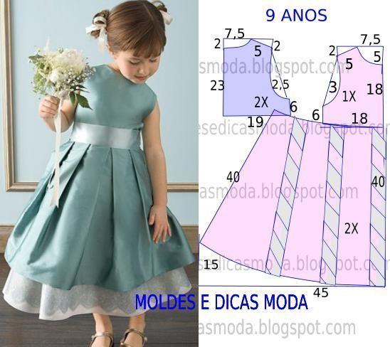 ARTESANATO COM QUIANE - Paps,Moldes,E.V.A,Feltro,Costuras,Fofuchas 3D: 5 moldes de vestidos de criança que você precisa ter