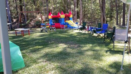 Camping explorer party in our backyard
