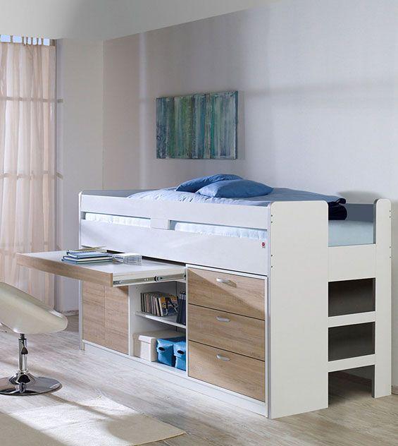 die besten 17 ideen zu hochbett mit schreibtisch auf. Black Bedroom Furniture Sets. Home Design Ideas