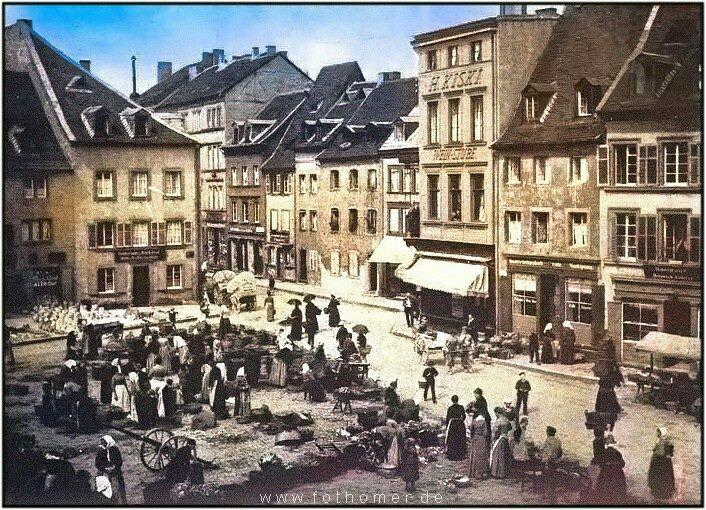 Weltpremiere.  #Ein nachcoloriertes #Bild #von 1890 #mit #einer M... Weltpremiere.  #Ein nachcoloriertes #Bild #von 1890 #mit #einer Marktszene #des #St.#Johanner Marktes #zu #Saarbruecken  #My #View  #Mehr #auf #www.#fothomer.deWeltpremiere.  #Ein nachcoloriertes #Bild #von 1890 #mit #einer Marktszene #des #St.#Johanner Marktes #zu #Saarbruecken  #My #View  #Mehr #auf #www.#fothomer.#de  #Saarbruecken / #Saarland   Weltpremiere.  #Ein nachcoloriertes #Bild #von 1890 #mit #ei
