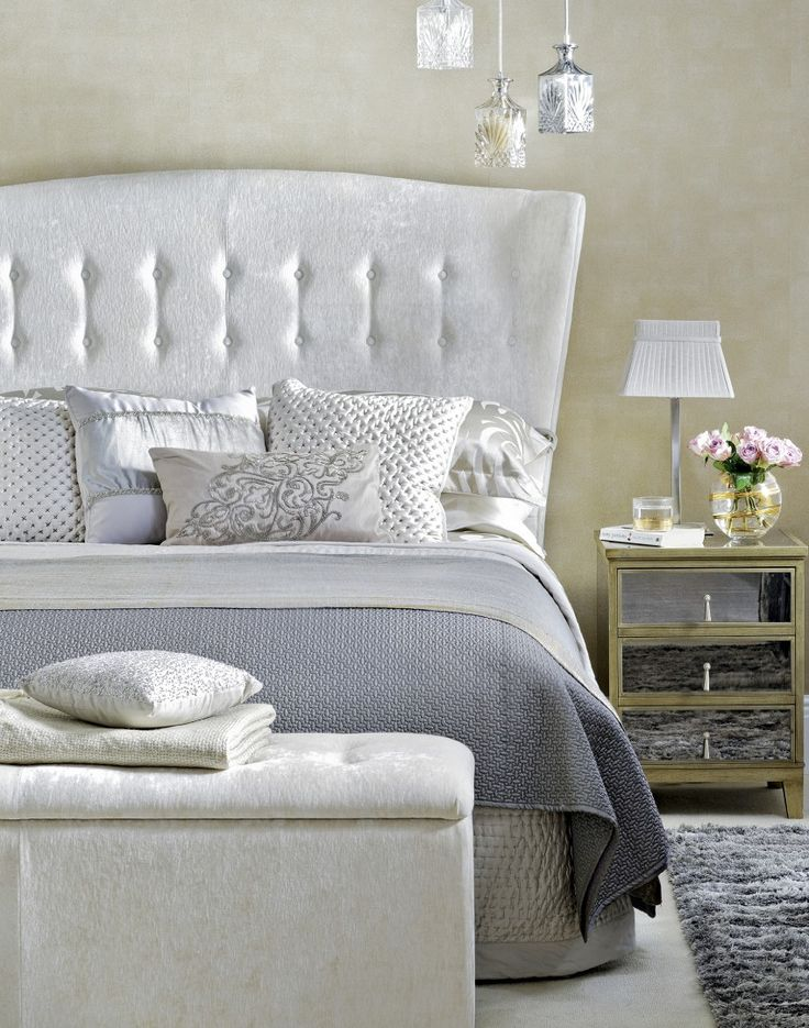Luxe Neutral Bedroom with Tufted Headboard