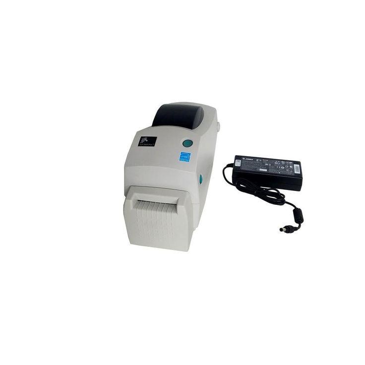 Zebra TLP 2824 Plus Thermal Transfer Label Monochrome Printer w- Cutter Serial USB 282P-101112-000 White