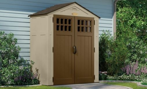Suncast 92 Cu Ft Sierra 6 X 3 Storage Shed 1 Per Pallet With Images Outdoor Storage Sheds Shed Storage Shed