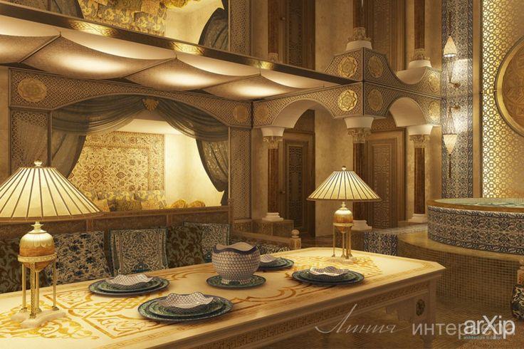 Интерьер в восточном стиле: интерьер, восточный, марокканский стиль, баня, сауна, хамам, 50 - 80 м2 #interiordesign #moroccan #bath #sauna #hammam #50_80m2 arXip.com