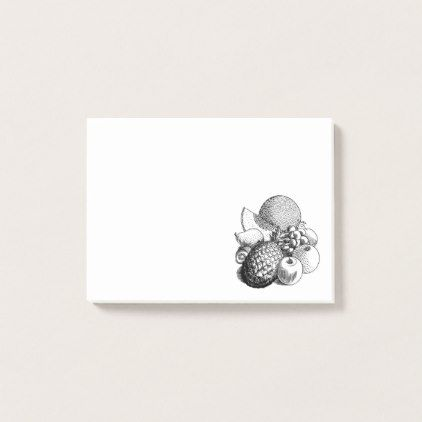 Simple Vintage Still Life Fruit Illustration Post-it Notes - simple gifts custom gift idea customize