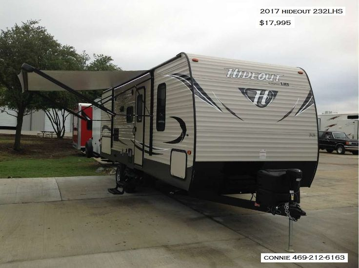 NEW 2017 Hideout 232LHS luxury camper, for sale just $17,995. Big on luxury, small on price! Call or text Connie 469-212-6163!