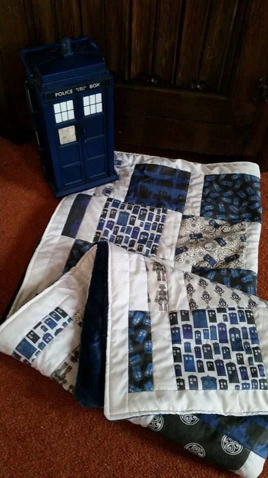 Doctor Who inspired  baby quilted blanket