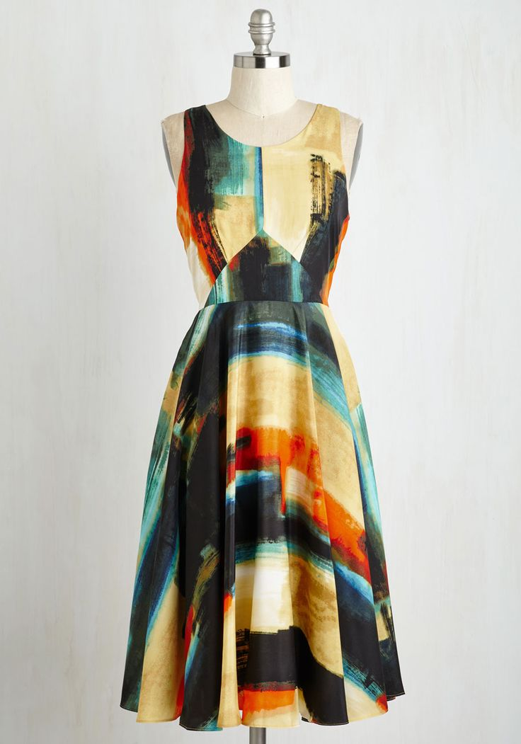 Aesthetic Allure Dress. Be the portrait of artistry and grace when you don this luxurious A-line dress. #multi #modcloth