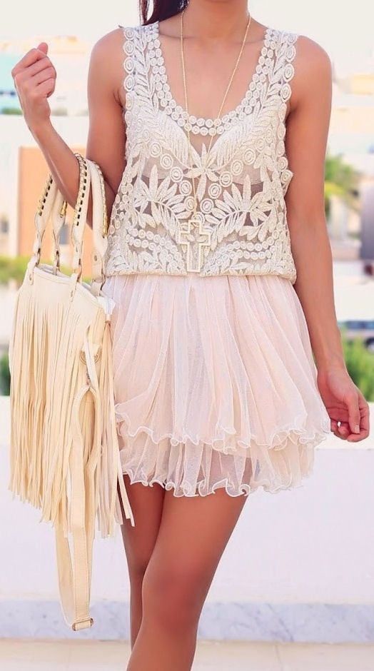 Lace Tank + Tulle Skirt ♥ SO cUte!