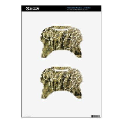 Weathered stone with lichen and moss background xbox 360 controller skin - personalize cyo diy design unique