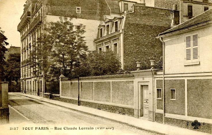 2, rue Claude Lorrain, 16ème (depuis 1946: 2, rue Charles-Marie Widor).  vue de Chardon lagache