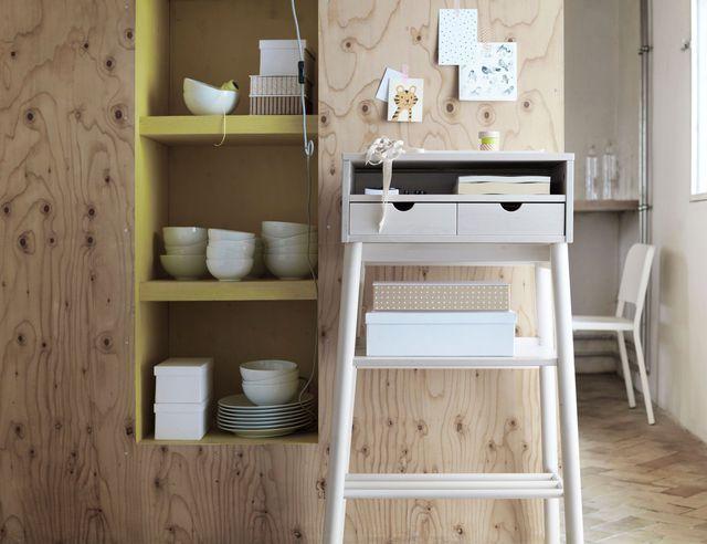 Un meuble bureau gain de place d'un nouveau genre pour l'entrée ou le salon !