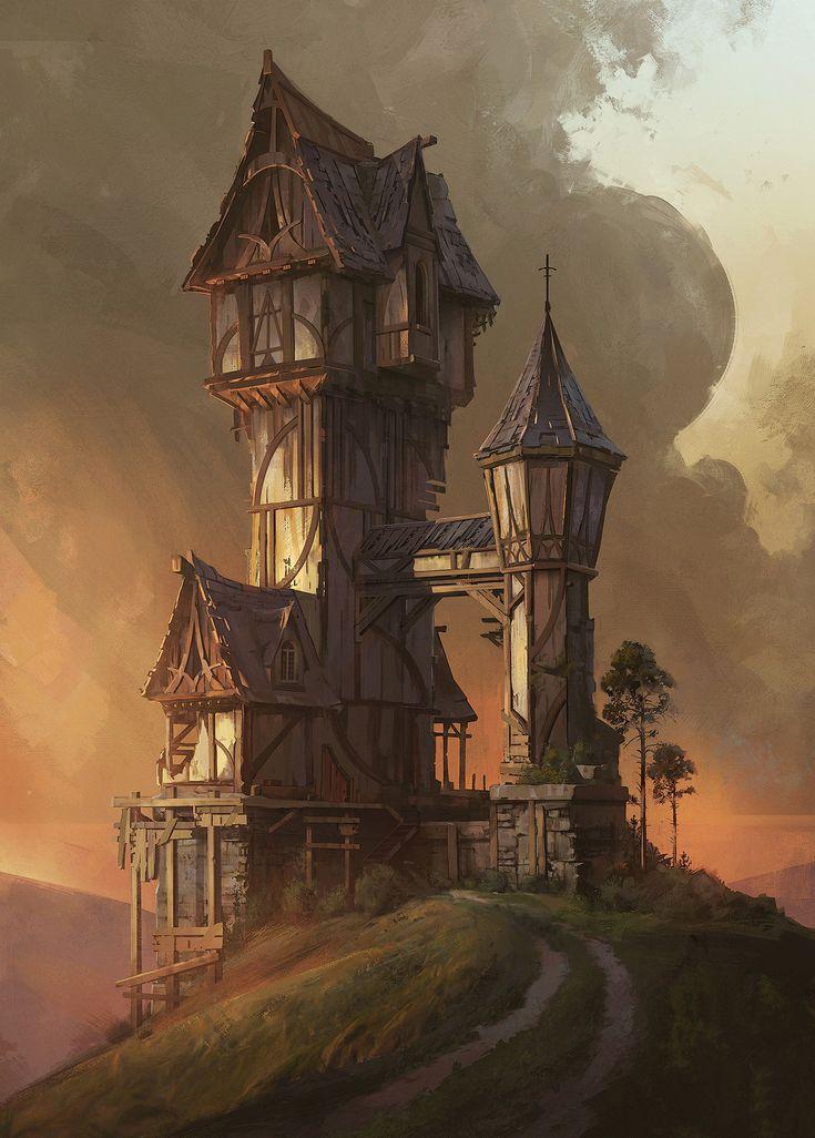 Hilltop House by artist Jordan Grimmer