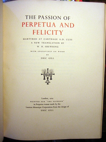 Eric Gill's Passion of Petpetua, in The Fleuron VII, 1929