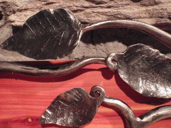 hand forged blacksmith leaf coat hook set on by coat hooksmetal