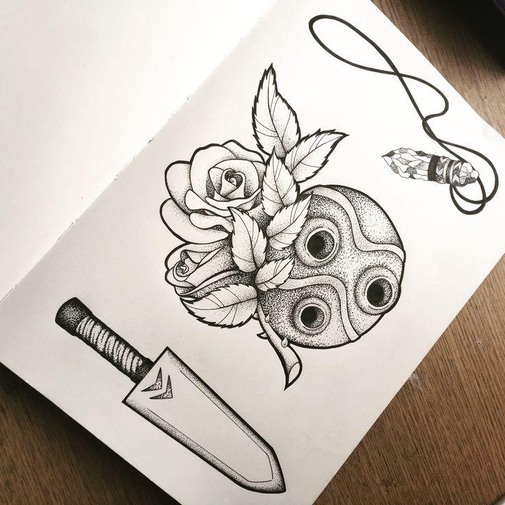 Princess Mononoke tattoo by Russell Van Schaick   Princess Mononoke Tattoo Design