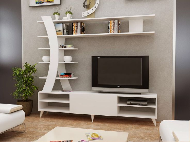 Modern Floating Shelves Decorating Ideas: 6 Prodigious Tips: Floating Shelves With Tv Modern Living