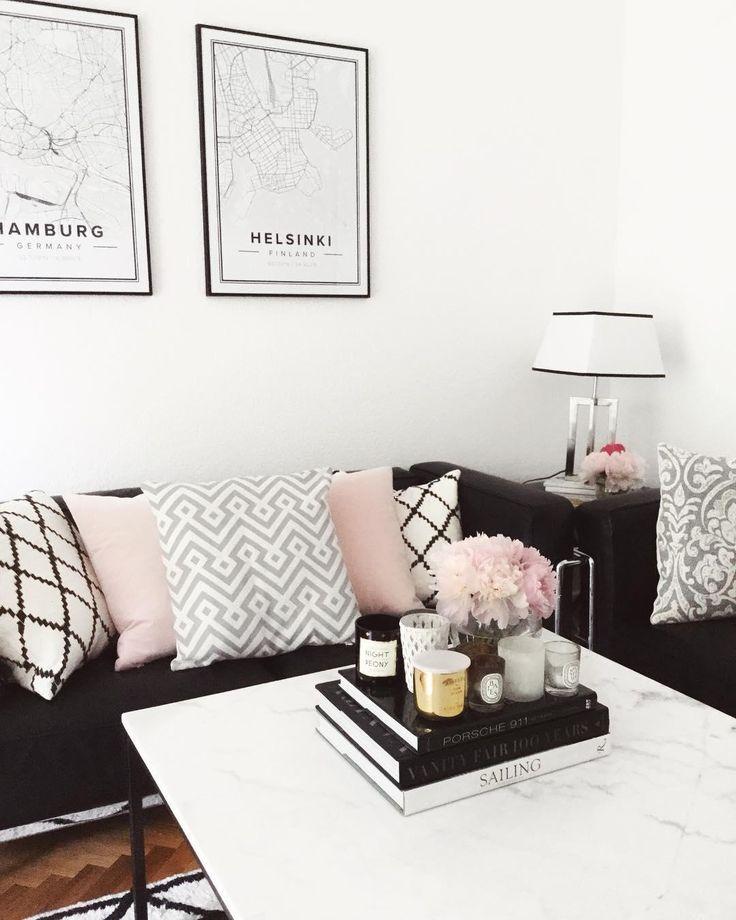 156 best Kissen \ Decken images on Pinterest Blankets, Couch and - wohnzimmer grau schwarz weis