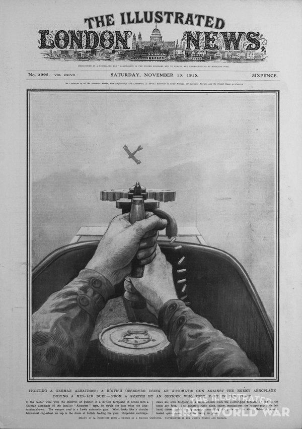 """WWI covered live on Twitter: """"Nov 13 1915 Illustrated London News - Fighting a German Albatross With an Automatic Gun https://t.co/f5rG9RnD1f #ww1 https://t.co/3kftG75nDh"""""""
