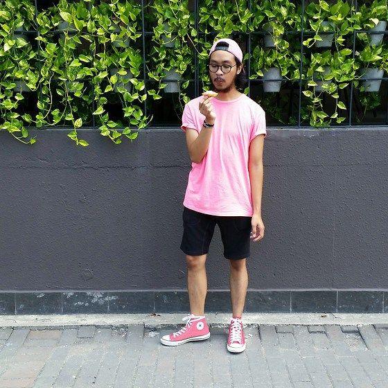 Camiseta rosa masculina 50ce0bc49895a