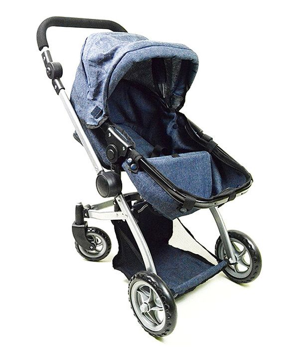 The New York Doll Collection Blue Single Doll Stroller For