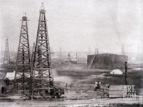 Oilfield at Spindletop Photographic Print at Art.com