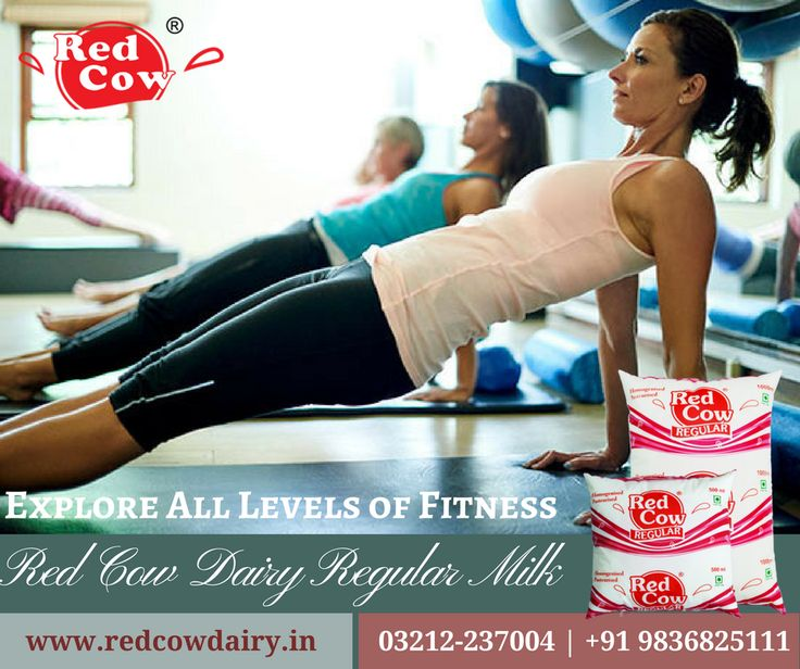 Explore all levels of fitness with daily exercise & Red Cow Dairy Regular Milk Contact: +91 9836825111