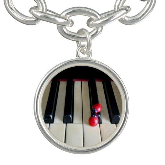 Piano - Nostalgia Charm Bracelet, Silver Plated