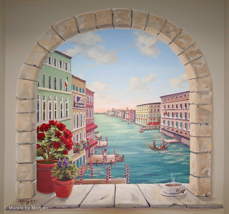 Venice Wall Niche. Painted Wall MuralsPainted ...