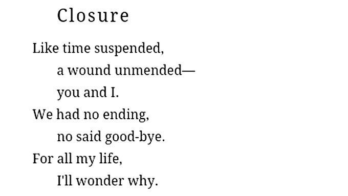 Closure - Love and Misadventure by Lang Leav - shekinahjoy.com