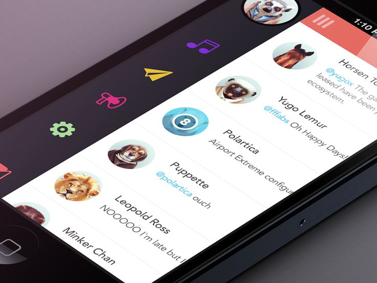 lister 20 Fantastic Examples of Flat UI Design In Apps