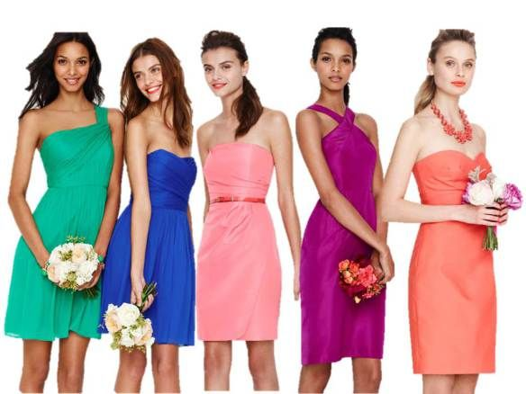 37 Best Images About Nonmatching Bridesmaid Dresses On