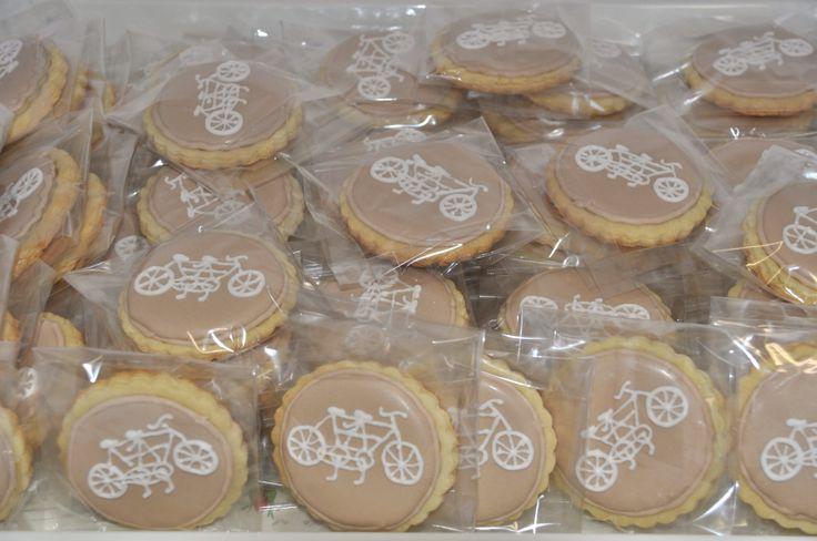 Tandem Bicycle Cookies Vintage Wedding Cookies