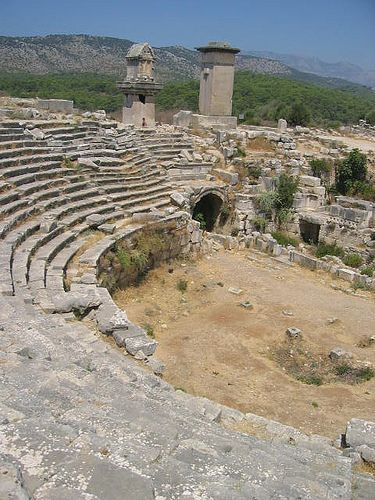 """Xanthos (Lycian: Arñna, Greek: Ξάνθος) was the name of a city in ancient Lycia, the site of present day Kınık, Antalya Province, Turkey, and of the river on which the city is situated. In early sources, """"Xanthos"""" is used synonymously for Lycia as a whole. The site has been inscribed as a UNESCO World Heritage Site since 1988. Xanthus is the Greek appellation of the name of the city of Arñna, of Lycian origin. The Hittite and Luwian name of the city is given as Arinna."""