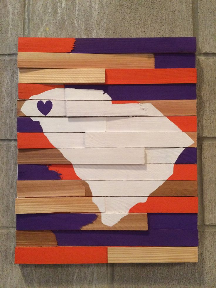College Wall Hanging Clemson University by ShopNobleNest on Etsy