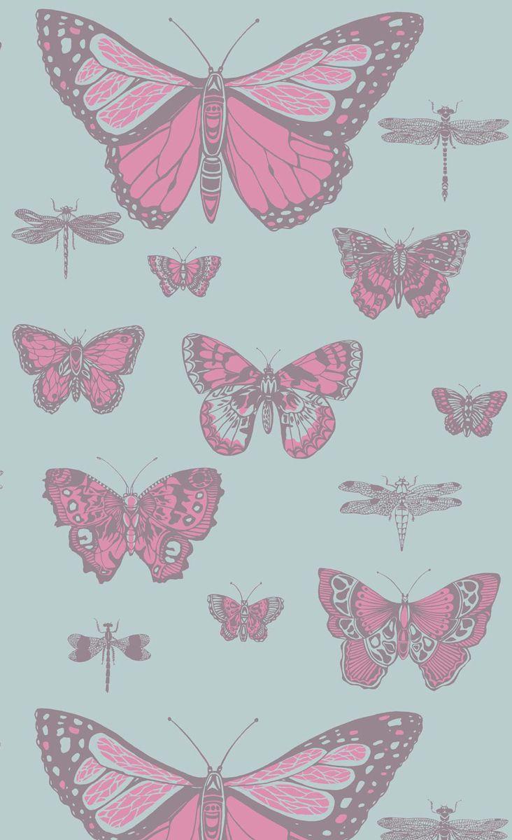 papier peint butterflies and dragonflies cole and son. Black Bedroom Furniture Sets. Home Design Ideas