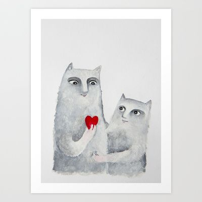 For you Art Print by Elena Goatelli - $20.00