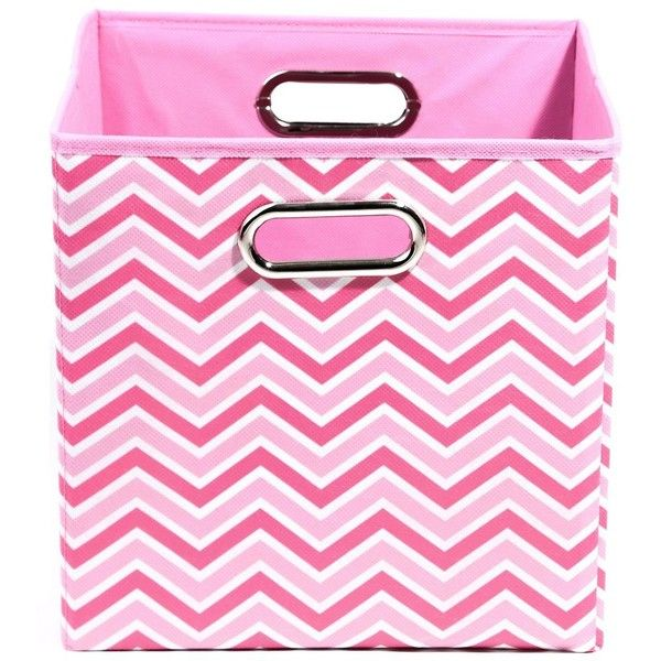 Rose Zig Zag Folding Storage Bin (64 BRL) ❤ liked on Polyvore featuring home, home decor, small item storage, bed and bath, rose home decor, pink storage baskets, pink home decor, pink storage bins and chevron home decor