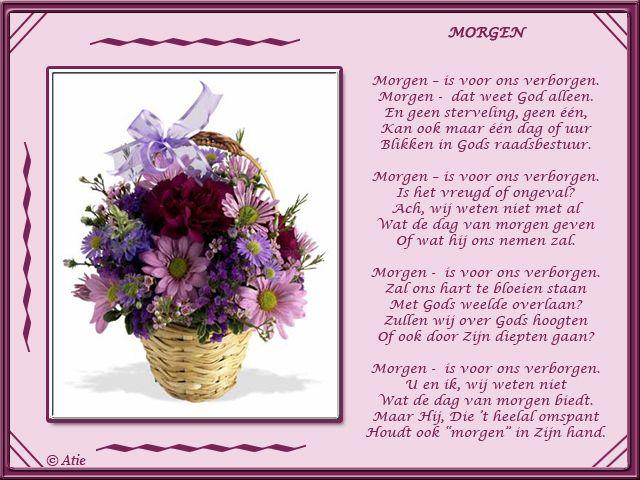 Favoriete Gedicht Morgen Is Voor Ons Verborgen Gft79 Agneswamu