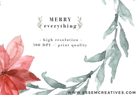 Watercolor Holiday Photo Card Template Christmas Clipart Etsy Christmas Watercolor Christmas Wreath Clipart Watercolor Christmas Cards