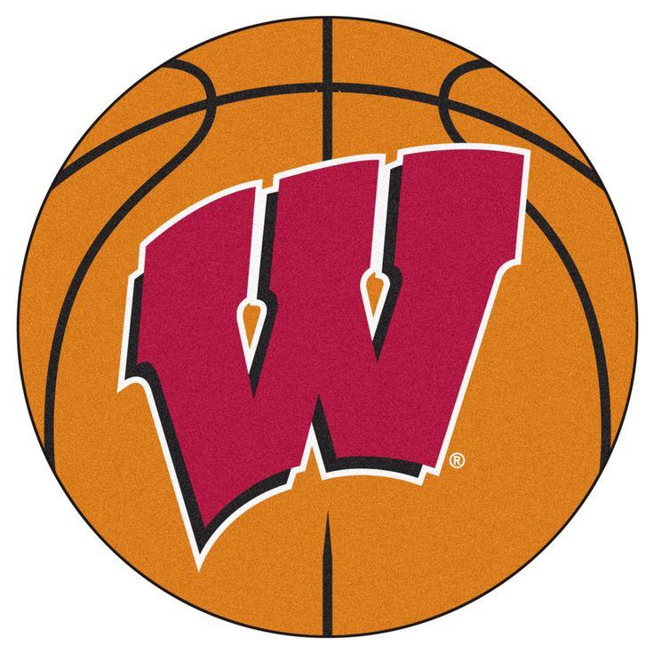 UW Badgers Basketball Area Rug
