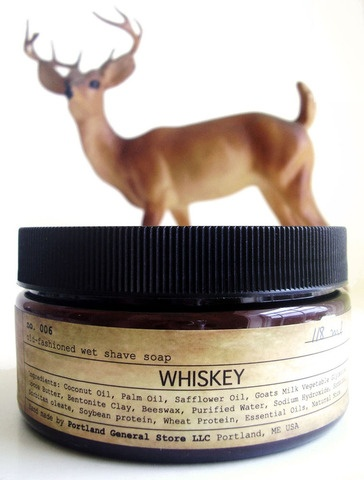 WHISKEY old-fashioned wet shave soap by Portland General Store $15.00