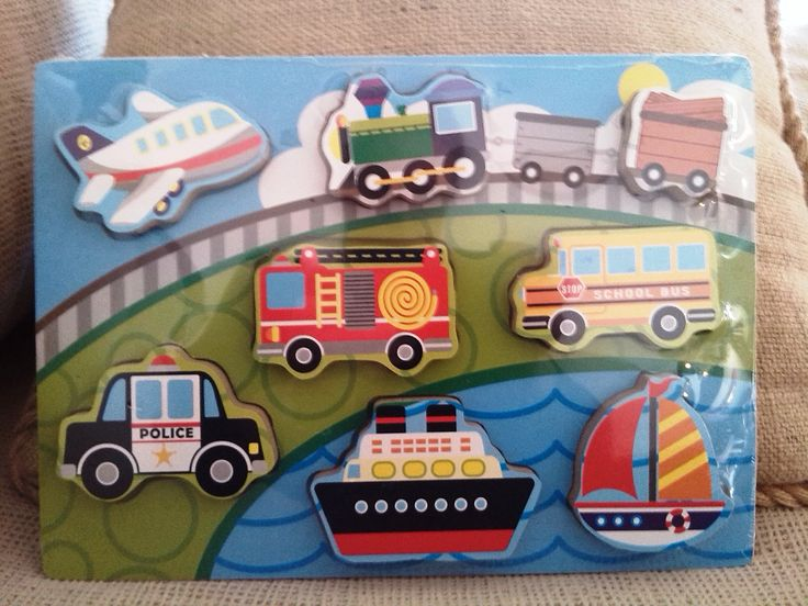 ENCAJE MADERA VEHÍCULOS (12 €) #encajeinfantil #juguetemadera http://www.babycaprichos.com/puzle-de-madera-en-relieve-vehiculos.html