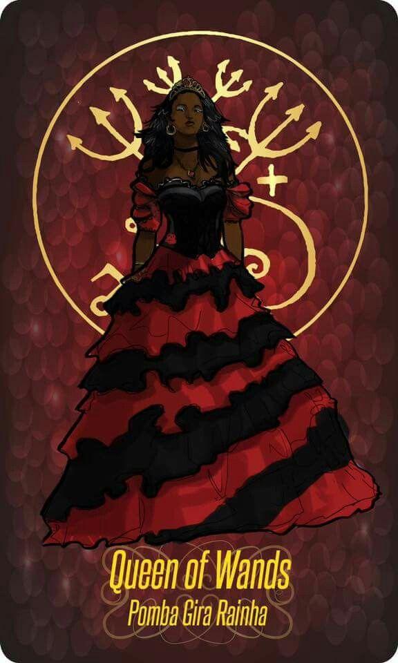♫ Numa noite estupenda encontrei uma mulher / Era uma linda pomba gira / A Rainha das Rainhas ♪ ♫