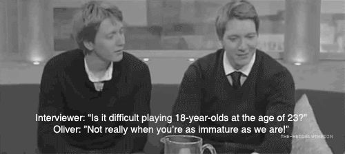 This made me laugh, James and Oliver Phelps<3