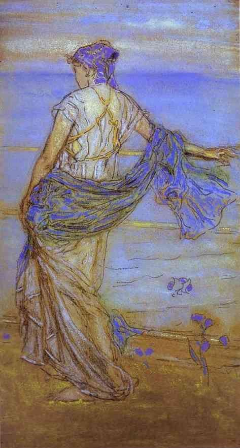 Annabel Lee, 1890,  James McNeill Whistler.  American  (1834-1903)