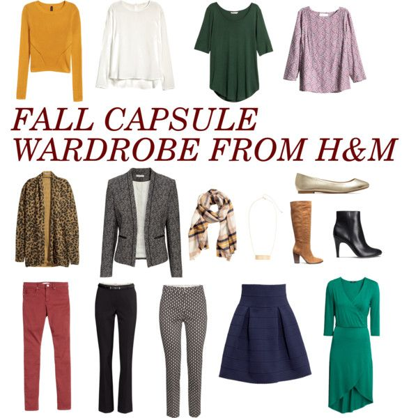 Fall Capsule Wardrobe - H&M by bethjustin518 on Polyvore featuring H&M: