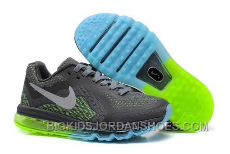 http://www.bigkidsjordanshoes.com/online-nike-air-max-2014-kids-shoes-for-sale-grey-green.html ONLINE NIKE AIR MAX 2014 KIDS SHOES FOR SALE GREY GREEN Only $85.00 , Free Shipping!