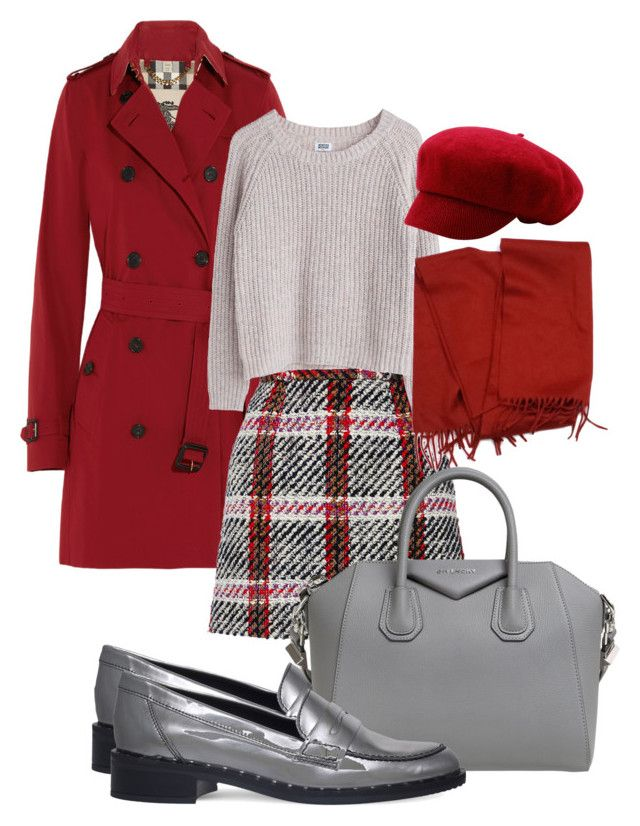 College chic by labicia on Polyvore featuring MTWTFSS Weekday, Burberry, Carven, Carvela, Givenchy and Loro Piana